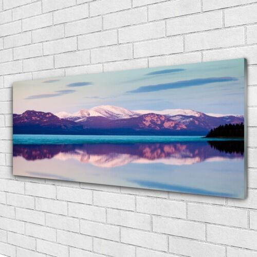 Wandbilder Glasbilder Druck auf Glas 125x50 Gebirge See Landschaft