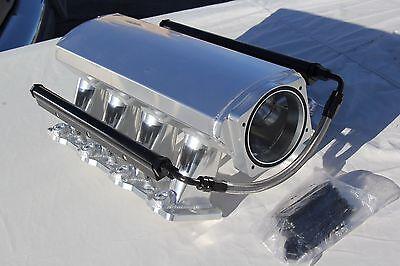 102MM TIG ALUMINUM SHEET METAL FABRICATED LS3 L92 6.2 INTAKE MANIFOLD HI RAM EFI