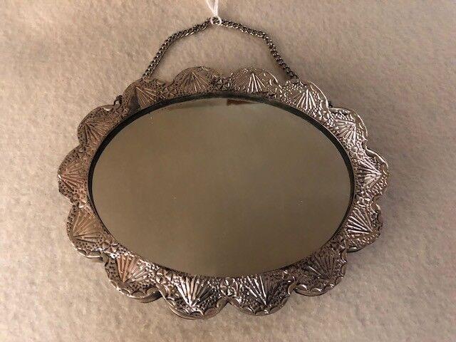 Vintage 925 Sterling Turkish Wedding Mirror - image 7