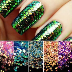 Mermaid Scales Holographic Iridescent Chunky Glitter Mix Multi Color