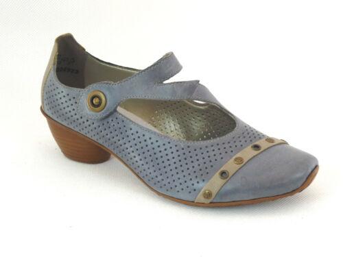 Rieker Damen Schuhe Halbschuhe Pumps Spangenpumps Neu Blau Kombi