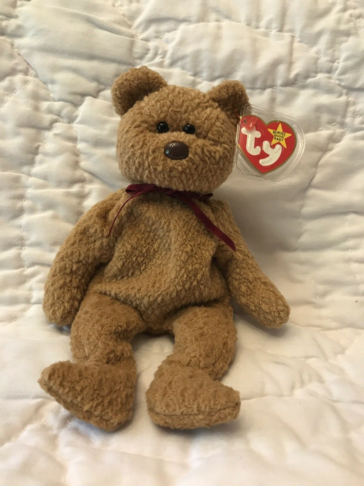 Ty Beanie Babies Curly Bear, RARE with 12 Errors