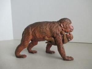 Rare-objet-AAA-macaques-avec-bebe-animal-PVC-FIGURE-FIGURINE-6-034-Long
