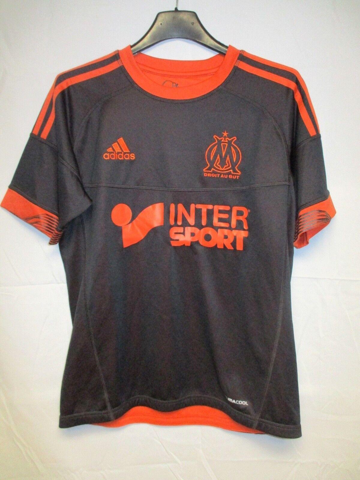 Maillot OLYMPIQUE de MARSEILLE 2013 ADIDAS shirt maglia réversible black orange S