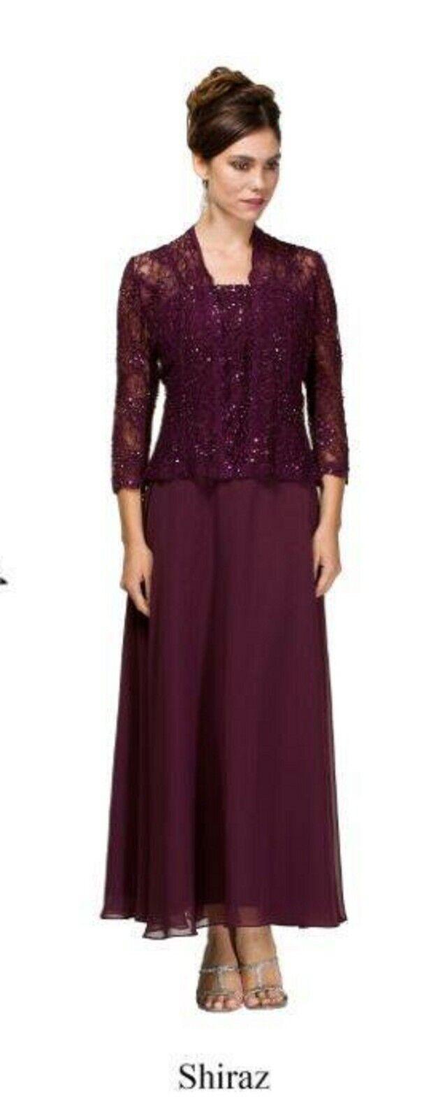 NWT Shiraz size 12 lace long formal gown/jacket, Emma Street ES6540