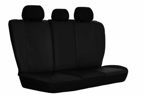 Universal Nera in Pelle Eco-Set Car Seat Covers per Renault Megane//Clio