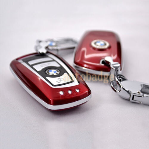Glossy Red Remote key fob Case Shell Protect Cover For BMW 1 3 5 6 7 Series
