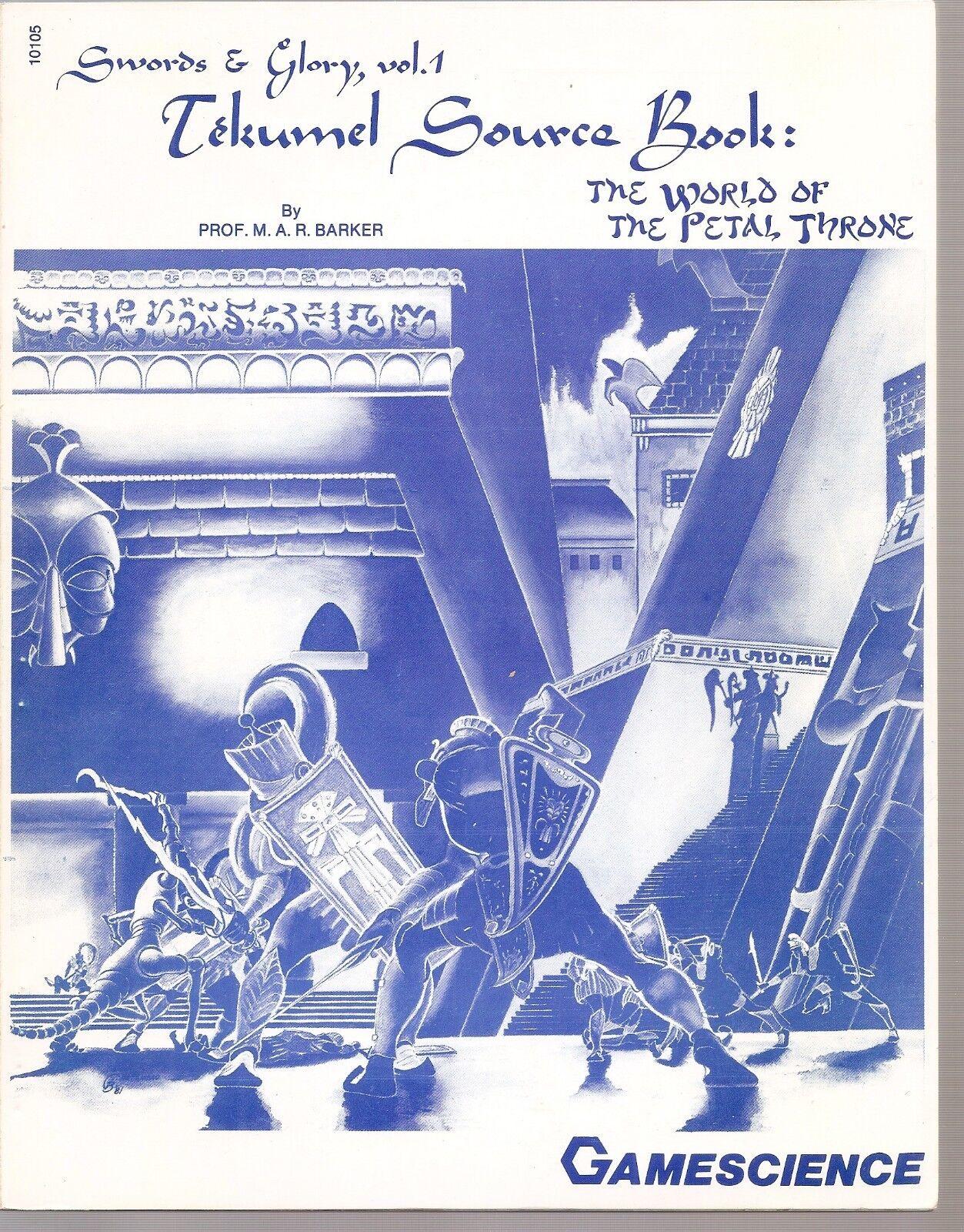 Swords & Glory, Vol 1.tekumel source book   the world of the petal throne, games