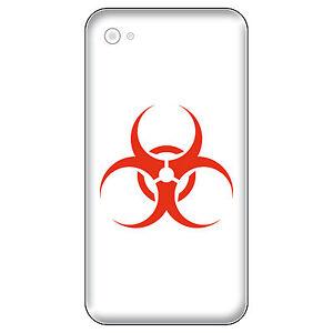 4 Tattoo Sticker 5cm Red Bio Hazard Biohazard Logo Phone Smartphone Decor Film