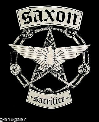 SAXON cd lgo SACRIFICE Official SHIRT XL New wheels of steel