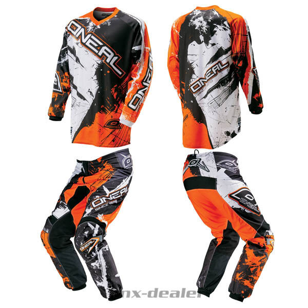 O'NEAL Element choquant ORANGE PANTALON JERSEY MX motocross enduro quad COMBO