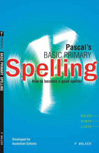 1 of 1 - Excel Handbooks - Pascal's Basic Primary Spelling Years 1–4