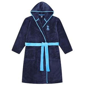 Home & Kitchen Bathrobes Mens Official Tottenham Hotspur THFC Spurs Dressing Gown Football Bathrobe Sizes from S to XL