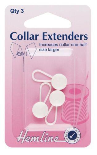 Dobladillo 12 mm White Collar Extensores Expansores Wonder botón Pantalón Falda camisas