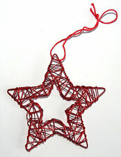 Drahtstern ROT –  gross - Weihnachts Deko, Advent