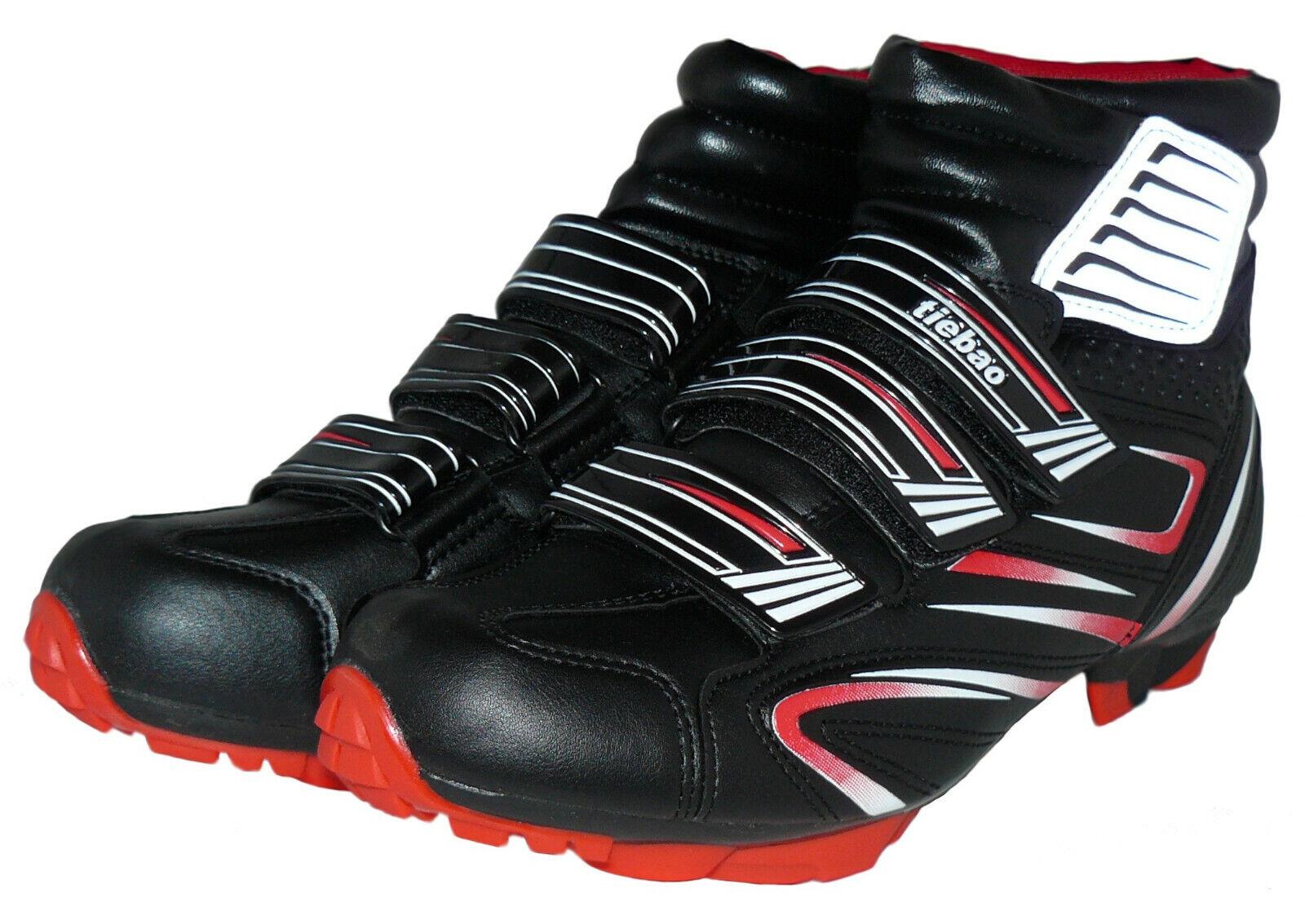 Invierno-bicicleta zapato mountainbike zapato negro-rojo MSW-RT talla 41 - 47 nuevo