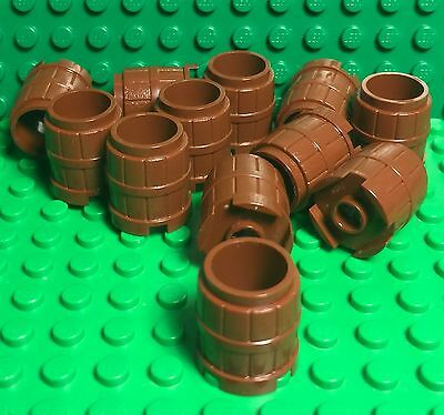 *NEW* 10 Pieces Lego Container 2x2x2 BARREL Reddish Brown 2489