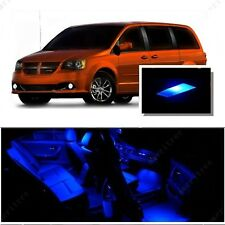 For Dodge Grand Caravan 2008-2015 Blue LED Interior Kit + Blue License Light LED
