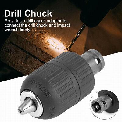 "2-13mm 1//2/"" Keyless Drill Chuck Screwdriver Impact Driver Adapter Hex Shank Kit"