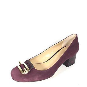 Michael Kors Gloria Women S Size 7 5 Burgundy Suede Pump Dress Shoes