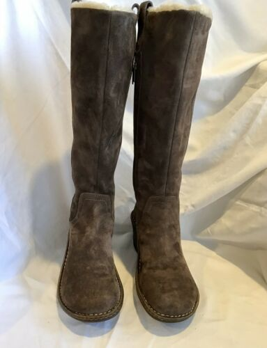 Ugg Austalia Hartley Brown Suede Tall Boots Sz 7