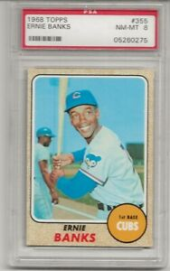 1968-TOPPS-355-ERNIE-BANKS-PSA-8-NM-MT-HOF-CHICAGO-CUBS-L-K