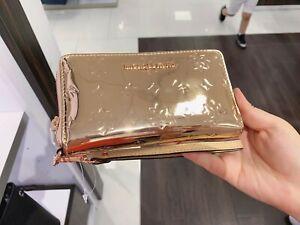 NWT-Michael-Kors-Jet-Set-Travel-Large-Zip-Phone-Case-Wristlet-Wallet-Rose-Gold