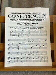 Carnet de notes pages détachables Claviers Magazine n°11 partition piano 2000