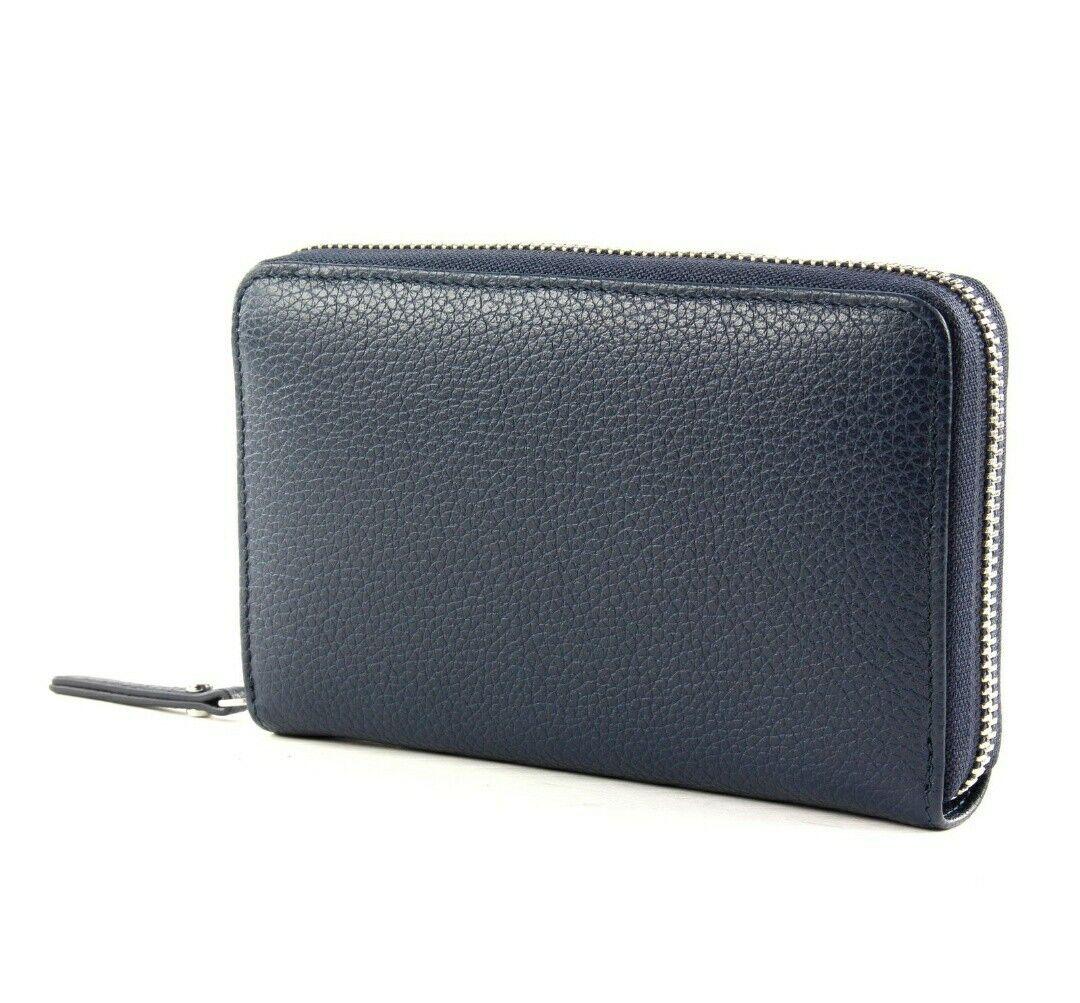 GIANNI CHIARINI Ladies Women's Wallet Purse ESSENTIAL OASI Navy Italian Leather