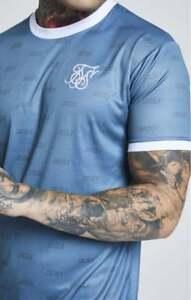 Sik-Seda-Nuevo-Para-hombres-Mangas-Cortas-Camiseta-Dobladillo-Curvo-Sombra-Verde-Azulado