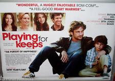 Cinema Poster: PLAYING FOR KEEPS 2013 (Quad) Gerard Butler Jessica Biel