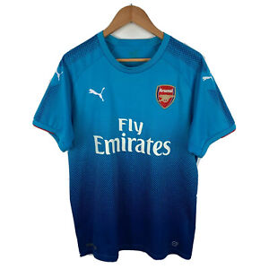 Puma-Arsenal-Soccer-Football-Mens-Jersey-Size-Large-Blue-Short-Sleeve