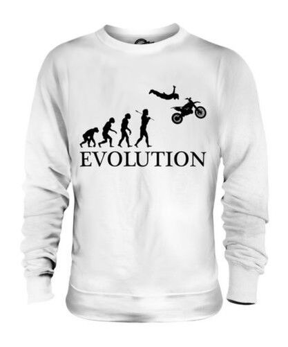 Moto Stunt Evoluzione Umana Unisex Maglione  Herren Damenschuhe Idea Regalo Stuntman