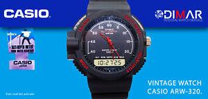 VINTAGE CASIO ALTI-DEPTH ARW-320, QW.376 JAPAN WR.100m NOS AÑO.1989.