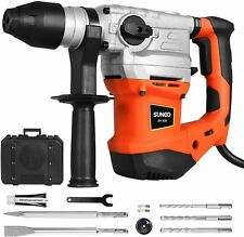 2000w Electric Sds Plus Rotary Hammer Drill Chisel Point Flat Bits Case