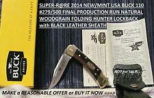 2014 VERY-RARE NEW/MINT USA#279/500 BUCK BU110FR 50th ANNIVERSARY LOCKBACK KNIFE