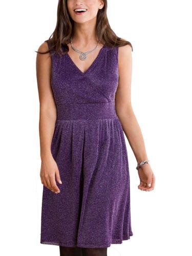 Nouveau Ex CELLBES violet argent Shimmer Mesh Wrap Corsage Robe Taille 20-22 24-26