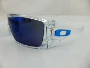 18e5eec328de7 Image is loading Oakley-BATWOLF-Sunglasses-Polished-Clear-Ice-Iridium-Lens-