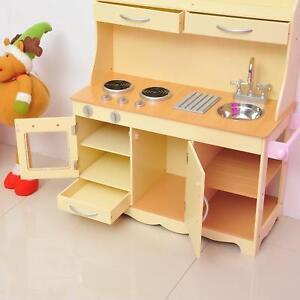 Jeu de cuisine en bois mini pour les enfants Les enfants joueront un jouet de cuisine créatif amusant