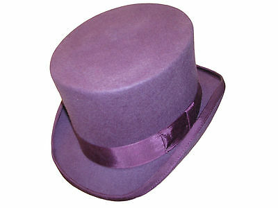 100% Wool Felt Wedding Event Top Hat With Satin Lining High Quality - 14 Colours