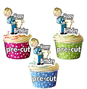 Home & Garden 7th Birthday Prince Precut Cupcake Toppers Cake Decorations Boys Son Grandson