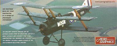 Aerographic Sopwith Triplane Balsa Plane Kit - Spectacular Flying Performance !