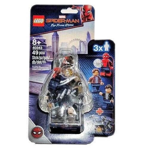 New LEGO 40343 Marvel Spiderman Far From Home Museum Break-In Minifigures BNIB