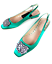 scarpe Slingback Rrp 99 4 Uk £69 Zara 3 uk 2 201 Ref Flat 5302 uk Embellished Gem XfTq0wf