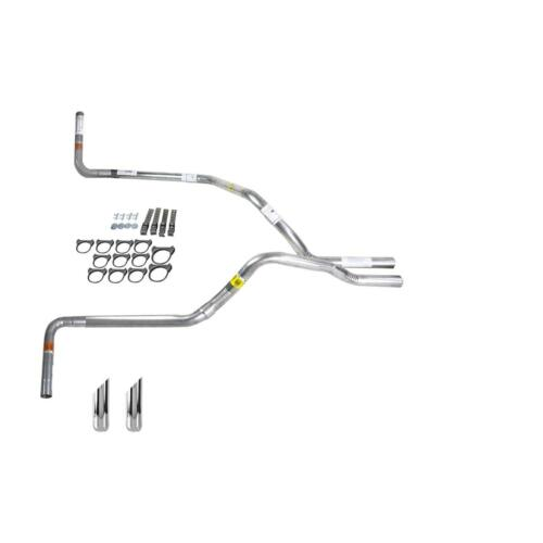 F150 98-04 dual exhaust 2.25 pipe No Muffler  SW Tip Side Exit