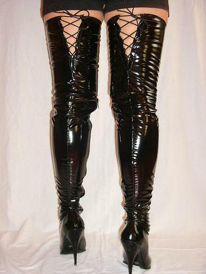 LATEX RUBBER FETISH Stiefel SIZE 4-12- HEELS 5,5