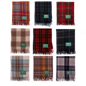 New-Fringe-Wool-Scottish-Cosy-Wooly-Tartan-Knee-Rug-Choice-of-Over-15-Tartans
