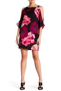 38e413a9986 Image is loading NWT-Trina-Turk-Baracoa-Cold-Shoulder-Floral-Print-