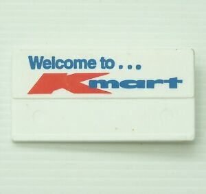 VINTAGE WELCOME TO K-MART AUSTRALIA NAME TAG PROMOTION PLASTIC STAFF PIN BADGE