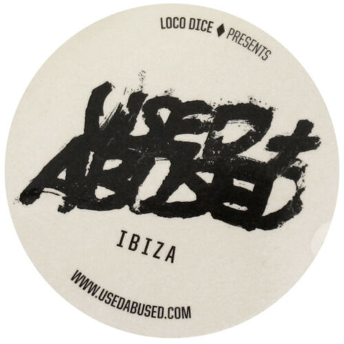 OFFICIAL Loco Dice Used Abused Ibiza Club Sticker Logo Transparent Clear Amnesia
